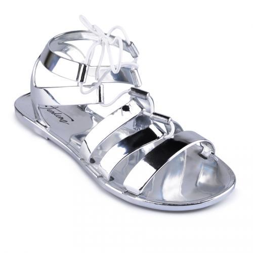 дамски ежедневни сандали сребристи 0127235