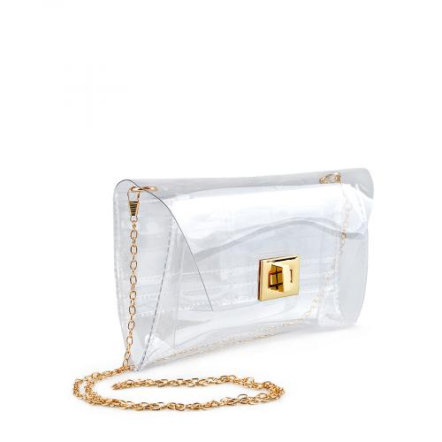дамска  елегантна чанта прозрачна 0136768