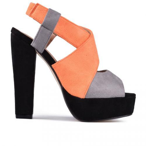 дамски ежедневни сандали сиво оранжеви 0112888