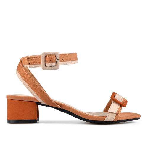 дамски елегантни сандали кафяви 0137618