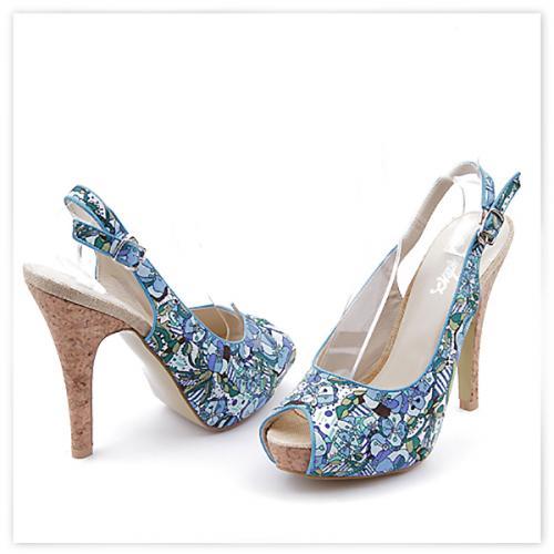 дамски сандали сини 0113907