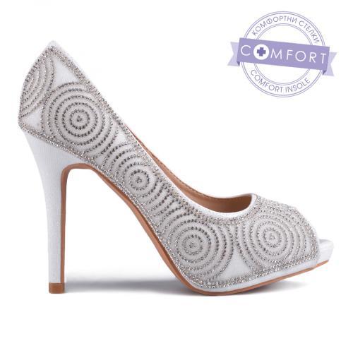 дамски елегантни обувки бели 0129210
