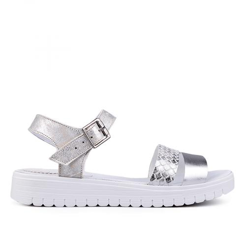 дамски ежедневни сандали сребристи 0132574