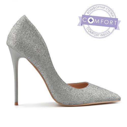 дамски елегантни обувки сребристи 0137448