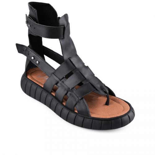 дамски ежедневни сандали черни 0127866