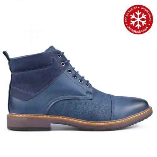 мъжки ежедневни боти сини с топъл хастар 0135744