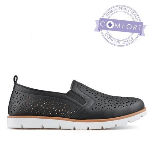 дамски ежедневни обувки черни 0136629