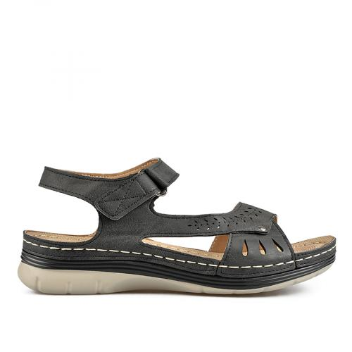 дамски ежедневни сандали черни 0136552