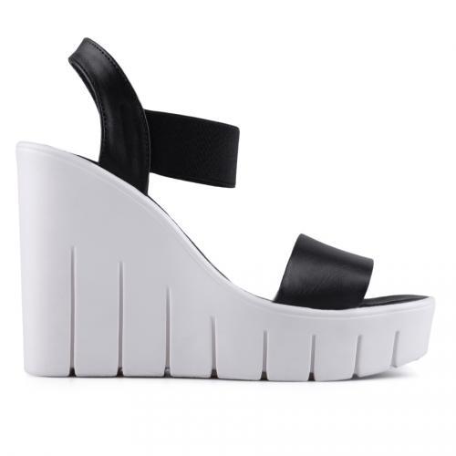 дамски ежедневни сандали черни 0128501