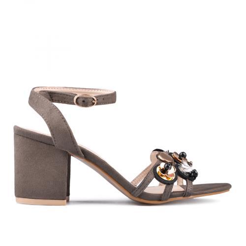 дамски елегантни сандали кафяви 0135857