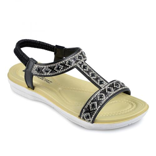 дамски ежедневни сандали черни 0138348