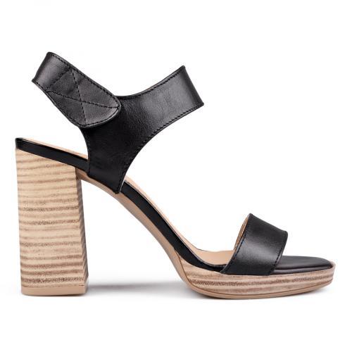 дамски елегантни сандали черни 0131417