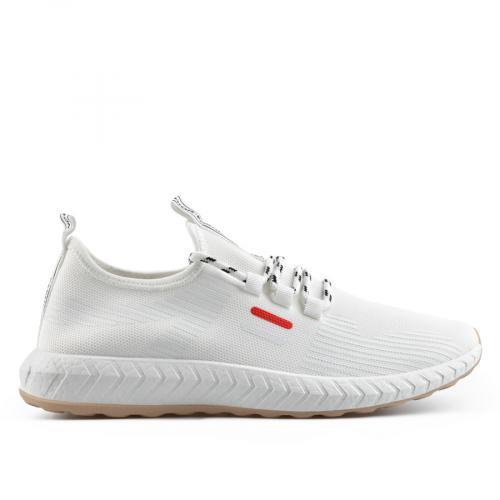 мъжки ежедневни обувки бели 0136921
