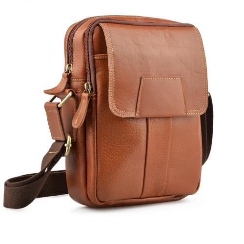 мъжка ежедневна чанта кафява 0138055
