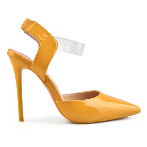 дамски елегантни сандали жълти 0137723