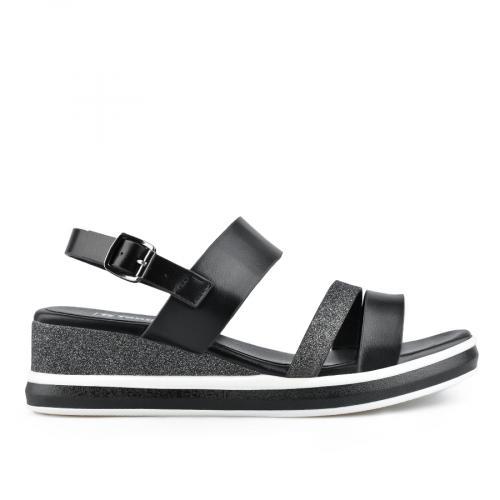 дамски ежедневни сандали черни 0137021