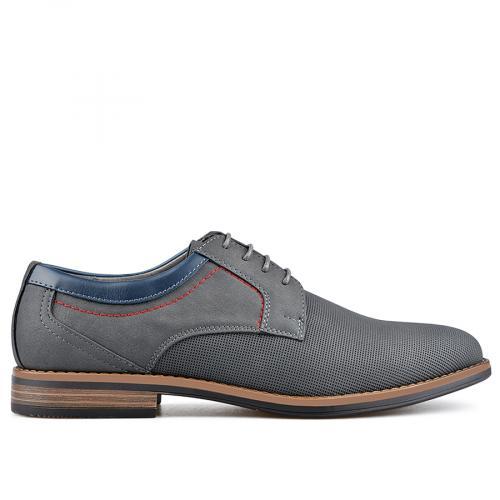 мъжки елегантни обувки сиви 0136591