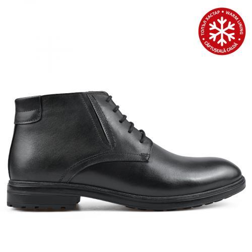мъжки ежедневни боти черни с топъл хастар 0135880