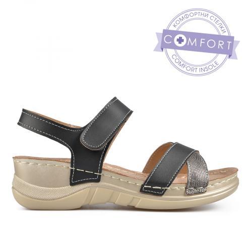 дамски ежедневни сандали черни 0137301