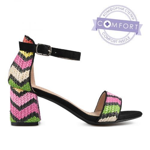 дамски елегантни сандали черни 0137435