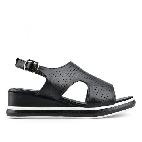 дамски ежедневни сандали черни 0137023
