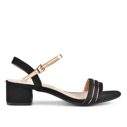 дамски елегантни сандали черни 0137614