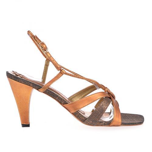 дамски елегантни сандали кафяви 0102150