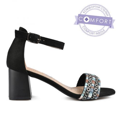 дамски елегантни сандали черни 0137432