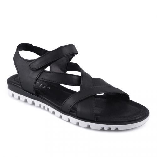 дамски ежедневни сандали черни 0127860