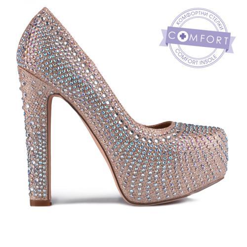 дамски елегантни обувки бежови 0129203