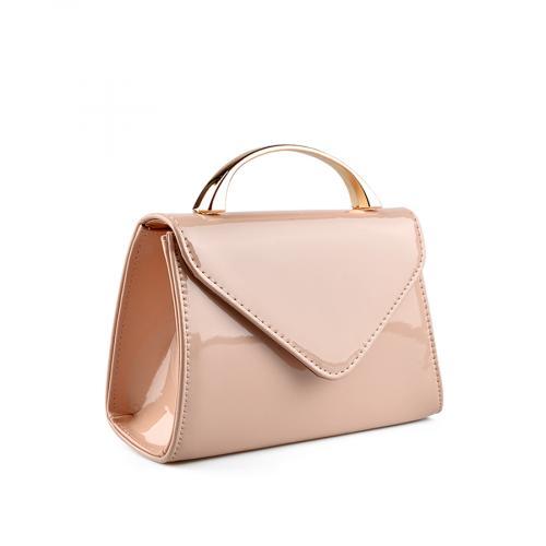 дамска  елегантна чанта бежова 0136757