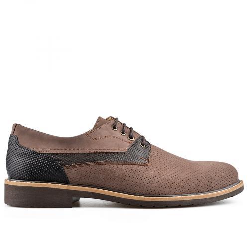 мъжки елегантни обувки кафяви 0138404