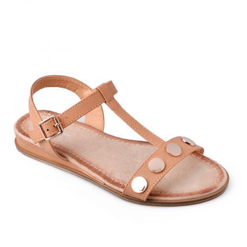 дамски ежедневни сандали кафяви 0134452