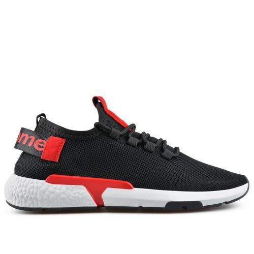 мъжки ежедневни обувки черни 0136951