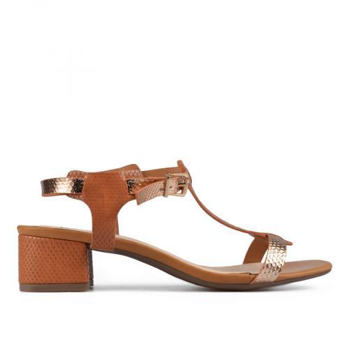 дамски елегантни сандали кафяви 0137624
