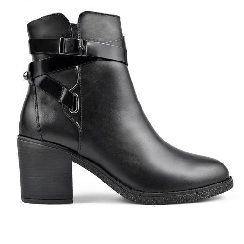 дамски елегантни боти черни  0136165