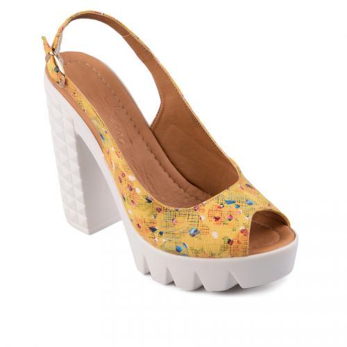 дамски ежедневни сандали жълти 0128475