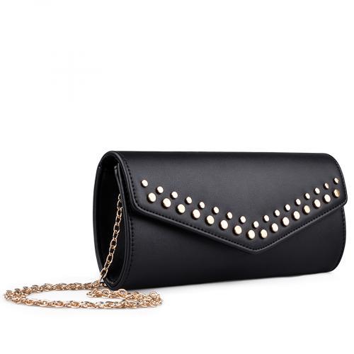 дамска елегантна чанта черна 0134373