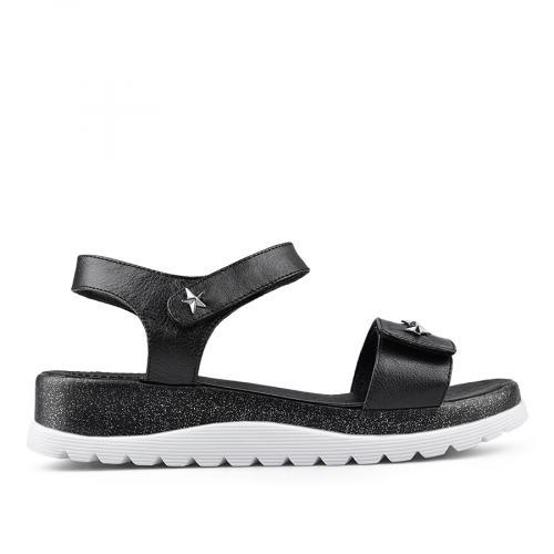 дамски ежедневни сандали черни 0135044