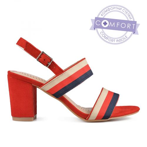 дамски елегантни сандали червени 0137425