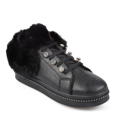 дамски ежедневни обувки черни 0135457