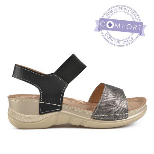 дамски ежедневни сандали черни 0137303