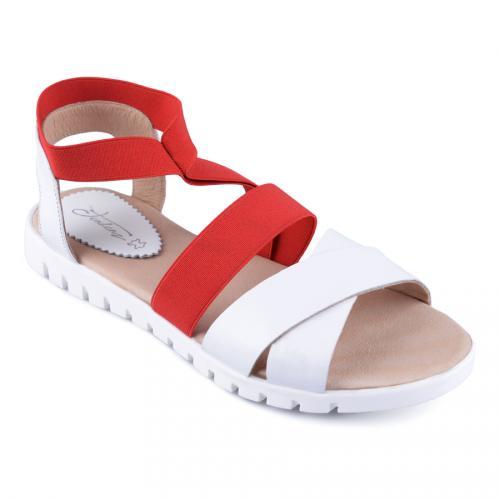 дамски ежедневни сандали бели 0128506