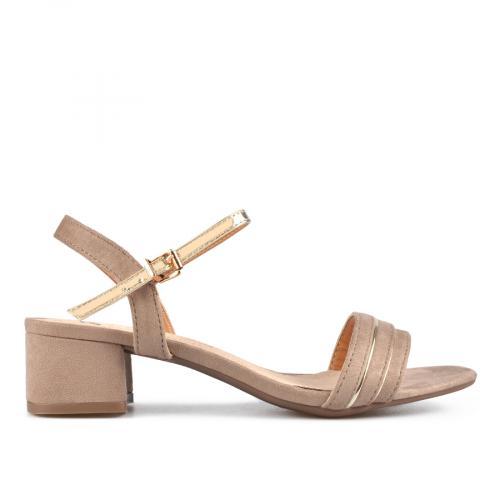дамски елегантни сандали бежови 0137615