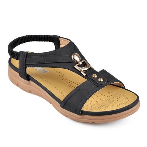 дамски ежедневни сандали черни 0138233