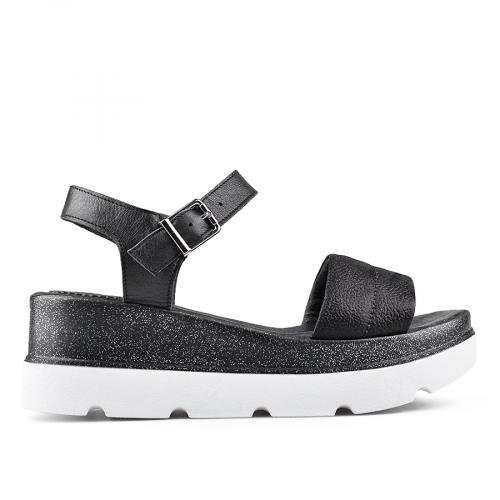 дамски ежедневни сандали черни 0135036