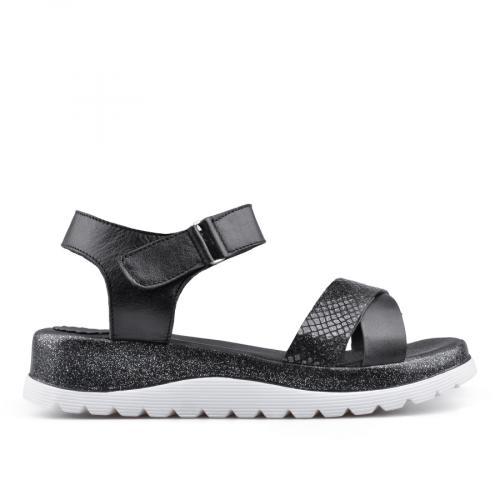 дамски ежедневни сандали черни 0135034
