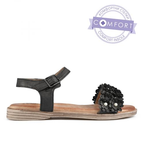 дамски ежедневни сандали черни 0137305