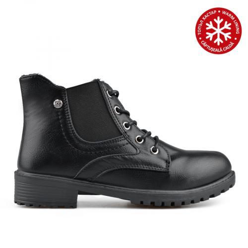 дамски ежедневни боти черни с топъл хастар 0135451
