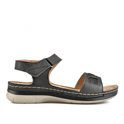 дамски ежедневни сандали черни 0136554